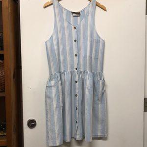 Vintage Striped Button Down Dress